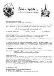 Ausschreibung Triathlon - Ludovicia Ingolstadt