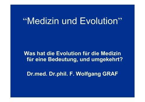 .medizin und Evolution.