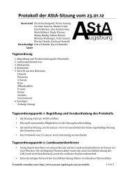 Protokoll der AStA-Sitzung vom 23.01.12