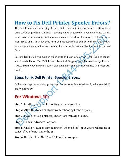 windows 10 printer spooler fix