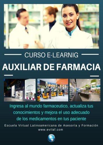 CURSO AUXILIAR DE FARMACIA A DISTANCIA