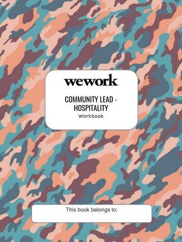 Workbook- Community Lead - Hospitality