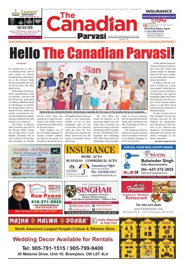 The Canadian Parvasi - Issue 02