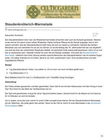 Staudenknöterich-Marmelade