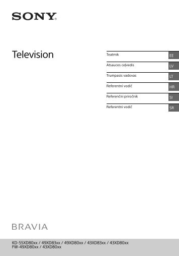 Sony KD-43XD8077 - KD-43XD8077 Guide de référence Estonien