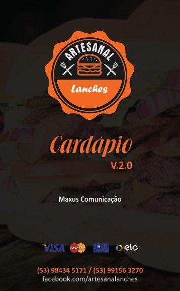 Cardápio Artesanal Lanches V.2.0