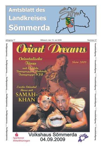 Amtsblatt des Landkreises Sömmerda - Landkreis Sömmerda
