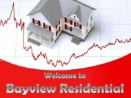 Get Mortgage Loan at Bayview Residential Brokerage