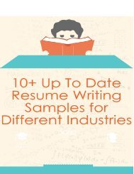 10+ Up to Date Resume Writing Samples for Different Industries
