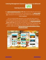 Catering Management System For Caterers to delivered Catering Services