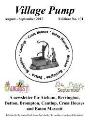 Berrington Village Pump Edition 131 (Aug-Sep 2017) Final Copy