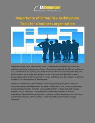 Importance of Enterprise Architecture Tools for a business organization