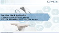 Precision Medicine Market – Global Industry Analysis, Size, Share, Growth Trends and Forecast, 2016 - 2024