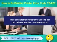 How to fix Brother Printer Error Code TS-02 Dial 448000465291