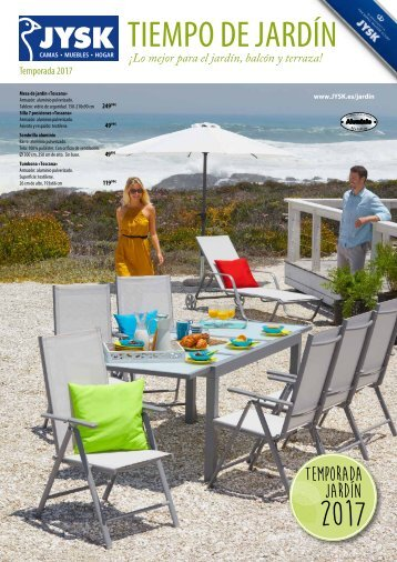 Folleto JYSK Jardin hasta 5 de Agosto 2017