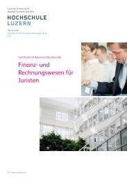 Broschüre CAS Finanz- und Rechnungswesen für Juristen