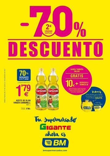 BM supermercados hasta 1 de Agosto 2017
