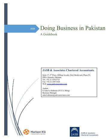 Doing Business in Pakistan - A Guidebook