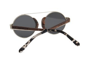 "NATURJUWEL ""Panther"" Holzbrille  silber"