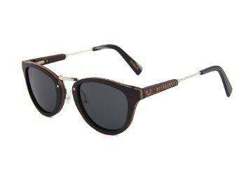 """NATURJUWEL """"Leopard"""" Holzbrille schwarz"""