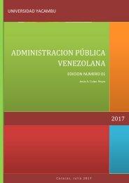 REVISTA ADMINISTRACION PÚBLICA VENEZOLANA