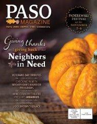 2016 November PASO Magazine