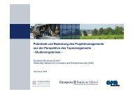 Potentiale und Bedeutung des Projektmanagements aus der ...