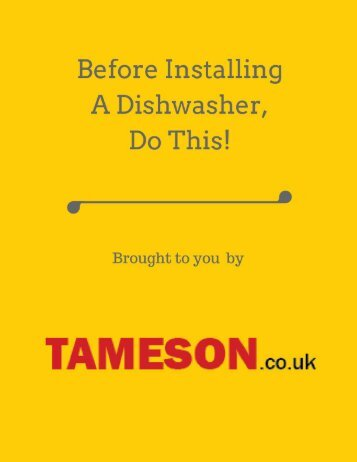 Before Installing A Dishwasher, Do This!