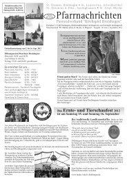 Das Ernte- und Tierschaufest 2012 - Pastoralverbund Kirchspiel ...