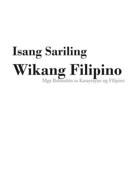 Isang-Sariling-Wika-Filipino