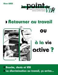 En couverture - Portail VIH / sida du Québec