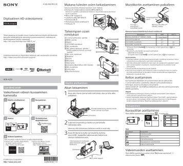 Sony RM-LVR3 - RM-LVR3 Manuel logiciel Finlandais