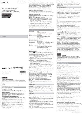 Sony RM-LVR3 - RM-LVR3 Guide de référence Croate