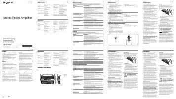 Sony XM-GTX6021 - XM-GTX6021 Consignes d'utilisation Polonais