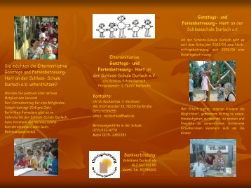 Info Flyer - in der Schloss-Schule Durlach