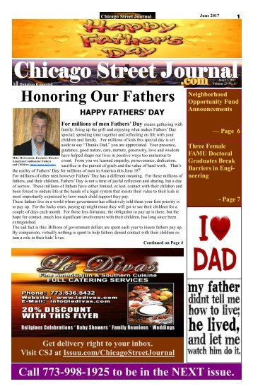 Honoring Our Fathers - Chicago Street Journal - June 15, 2017 Edition