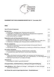 Heft 2/11 - Konvent Evangelischer Theologinnen