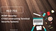H12-722 Huawei HCNP-Security dumps questions,H12-722 HCNP-Security-CTSS(Constructing Terminal Security System) real questions