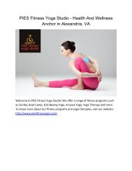 PIES Fitness Yoga Studio - Health And Wellness Anchor in Alexandria, VA