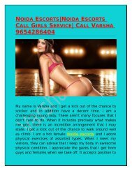 NOIDA ESCORTS|NOIDA ESCORTS CALL GIRLS SERVICE| CALL VARSHA 9654286404