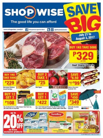 SHOPWISE GROCERY CATALOG ends August 3, 2017