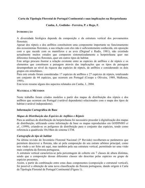 Carta da Tipologia Florestal de Portugal Continental e - ESAC