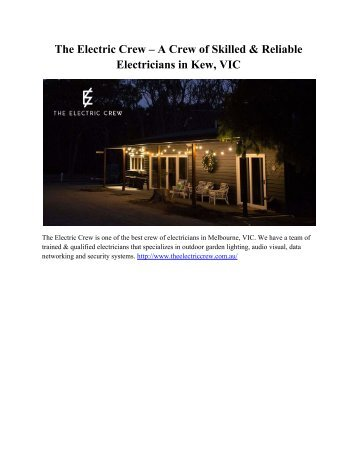 The Electric Crew – A Crew of Skilled & Reliable Electricians in Kew, VIC