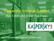 Kaspersky Technical Support Phone Number @ Www.kaspersky-support-number.com