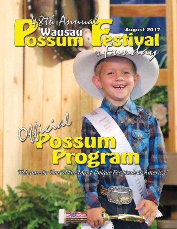 2017 Wausau Possum Festival Program