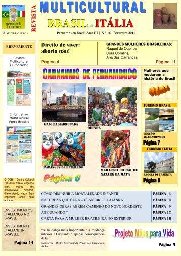 BRASIL ITÁLIA - Revista Multicultural Brasil & Italia