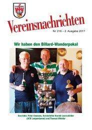 VfV Hildesheim - Vereinszeitung 2/2017