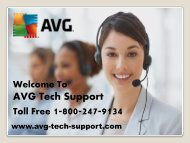 AVG Customer Support Phone Number @ Www.avg-tech-support.com