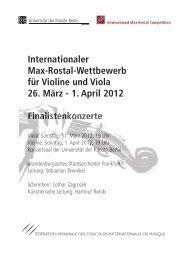 Internationaler Max-Rostal-Wettbewerb für Violine und Viola 26 ...