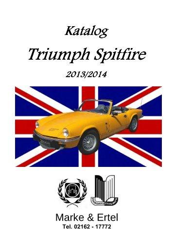 triumph spitfire ersatzteil katalog2012 angeboten. Black Bedroom Furniture Sets. Home Design Ideas
